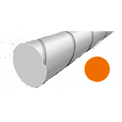 Hilo corte redondo silencioso de Nylon Naranja Ø2,4mm x 14 m