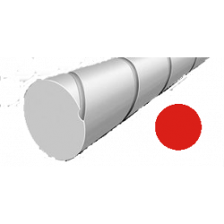 Hilo corte redondo silencioso de Nylon Rojo Ø 2,7 mm x 9 m