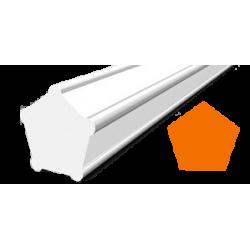 Hilo corte 5 cantos Pentagonal Naranja Ø 2,4 mm x 48 m