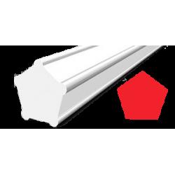 Hilo corte 5 cantos Pentagonal Rojo Ø 2,7 mm x 77 m