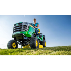 Tractor Cortacésped John Deere X146R 92 cm Corte y Recogedor