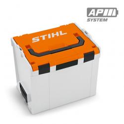 Maletín Caja Dura para Baterías de Tamaño L gris y naranja