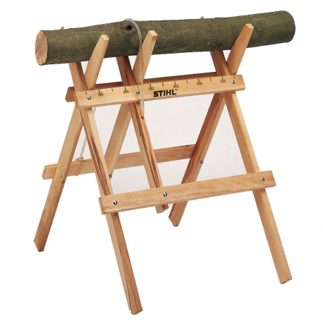Caballete de madera para aserrar y cortar leña