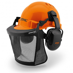 Casco con careta rejilla y auriculares Function Basic
