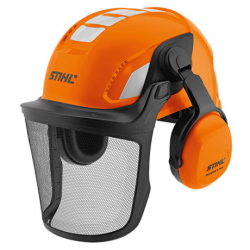 Casco con careta rejilla y auriculares ADVANCE Vent