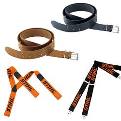 Cinturones de cuero para herramientas y Tirantes para pantalones